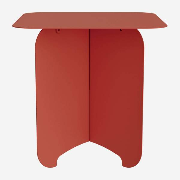 Table d'appoint en métal - Rouge