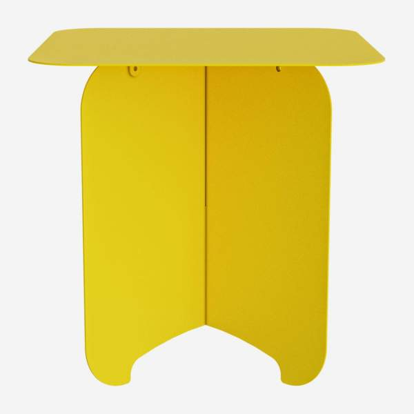 Table d'appoint en métal - Jaune