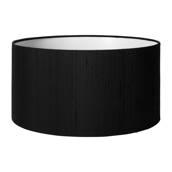 drum silk abat jour en soie 35x18cm noir habitat. Black Bedroom Furniture Sets. Home Design Ideas