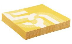 Yellow 50 years paper napkins