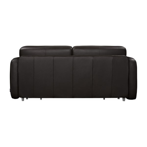 3-seater leather sofa-bed n°7