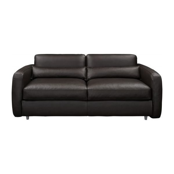 3-seater leather sofa-bed n°5