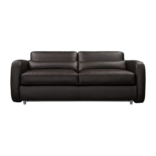 3-seater leather sofa-bed n°6