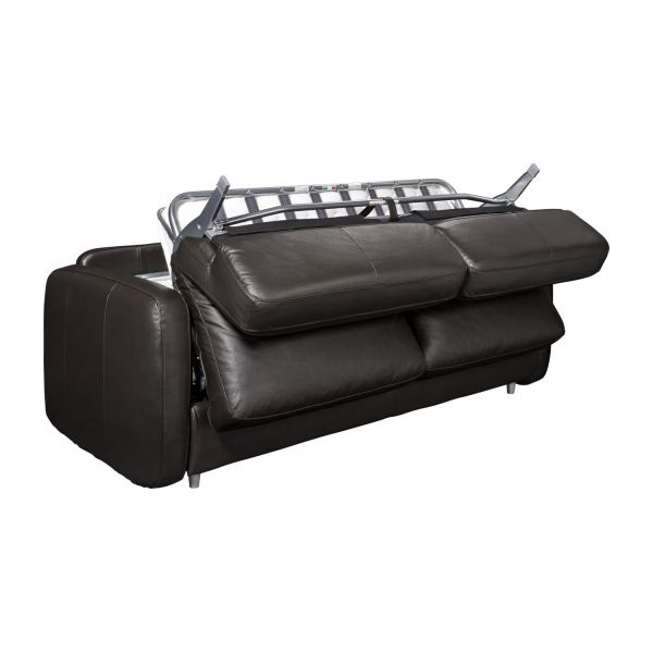 3-seater leather sofa-bed n°2