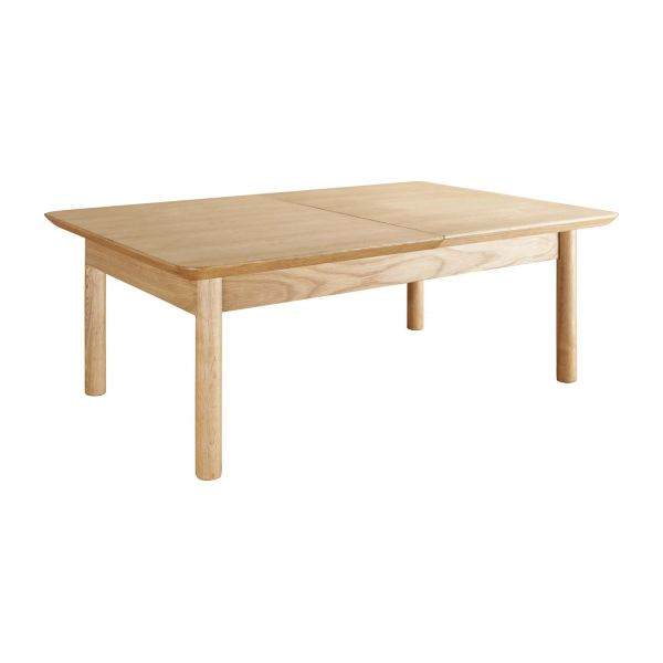 Elia petite table basse extensible en ch ne habitat for Petite table a manger extensible