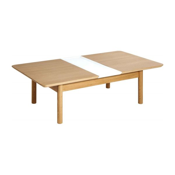 Elia petite table basse extensible en ch ne habitat for Petite table basse de salon
