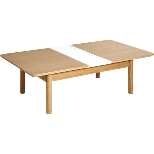 Elia table basse avec rallonges habitat - Table basse a rallonge ...