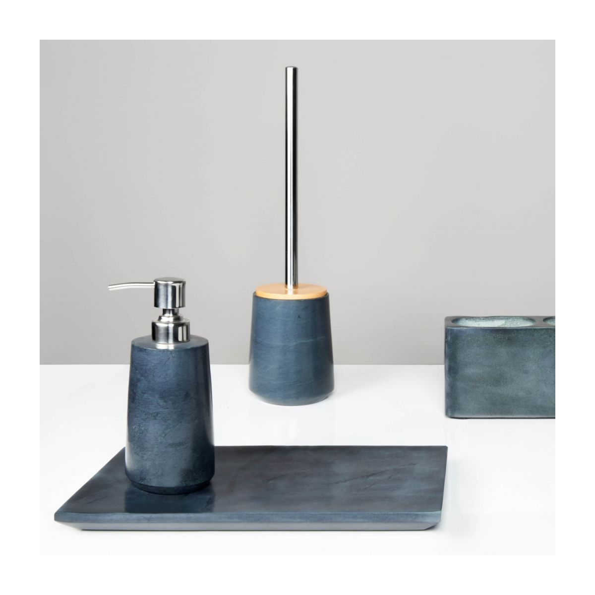 Grey soapstone toilet brush n°5