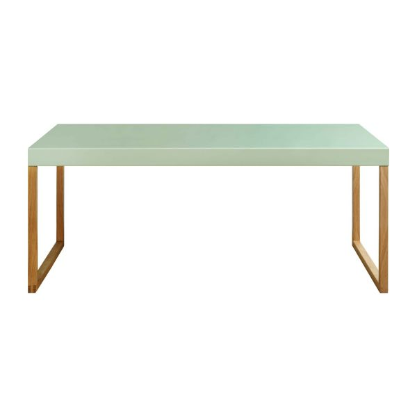 Kilo table basse en m tal et ch ne massif habitat for Table basse chene metal