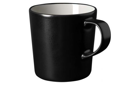 Grey and black mug