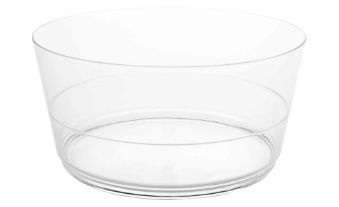 Transparent acrylic salad bowl