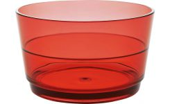 Red acrylic bowl