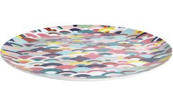 Round patterned tray