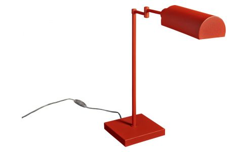 Coral angled desk lamp