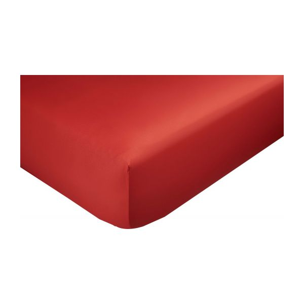 Fitted sheet 140 x 200 cm, red