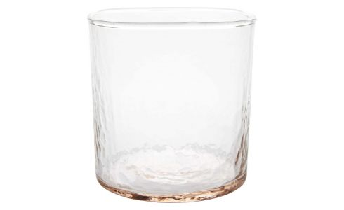 Peach water glass