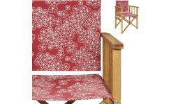 Red flowery canvas for the Africa chair