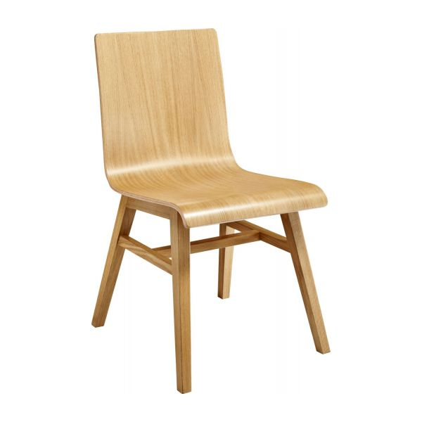 Ply Ii Solid Oak Dining Chair Habitat