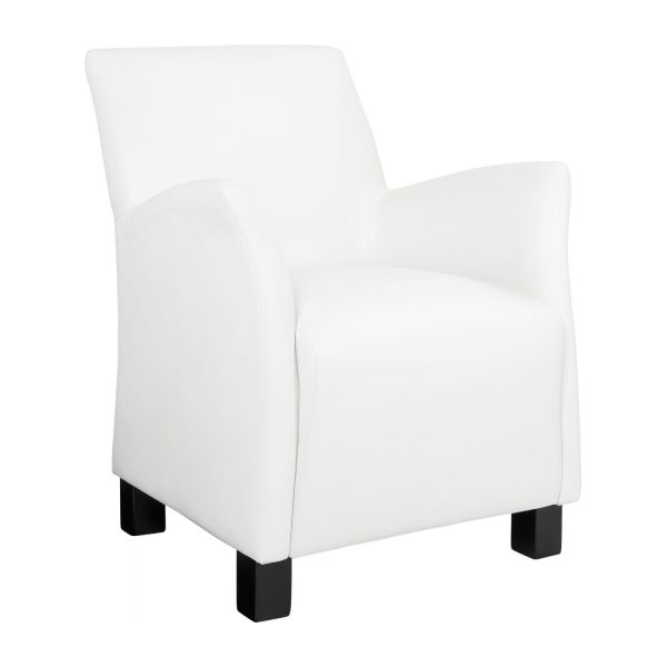 mercure fauteuil en simili cuir blanc habitat. Black Bedroom Furniture Sets. Home Design Ideas