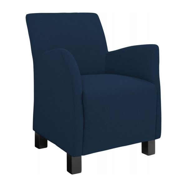 mercure fauteuil en feutrine bleu marine habitat. Black Bedroom Furniture Sets. Home Design Ideas
