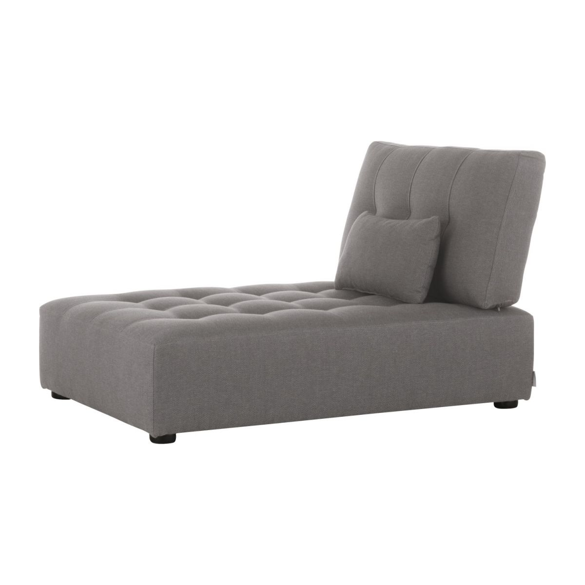 Fabric chaise longue unit n°1