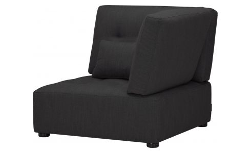 Fabric right corner chair unit