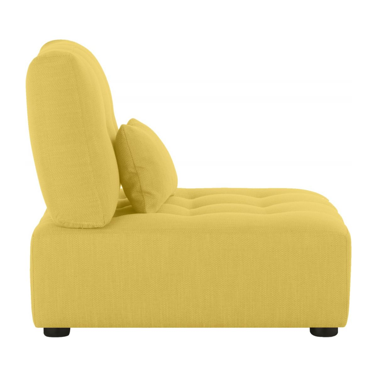 Chaiselongue aus Stoff - Senfgelb n°5