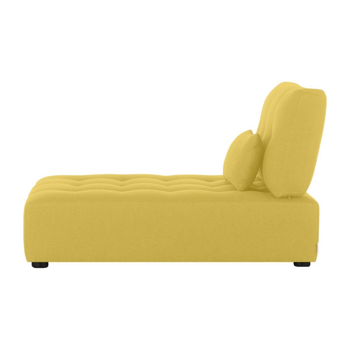 Chaiselongue aus Stoff - Senfgelb n°4