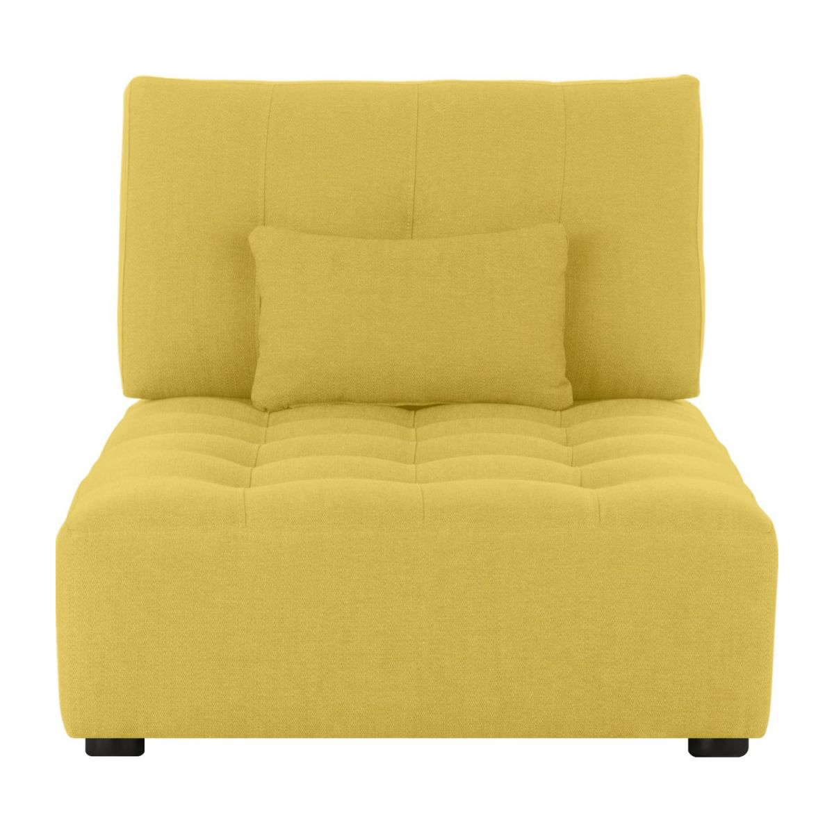 Chaiselongue de tela-amarillo mostaza n°3