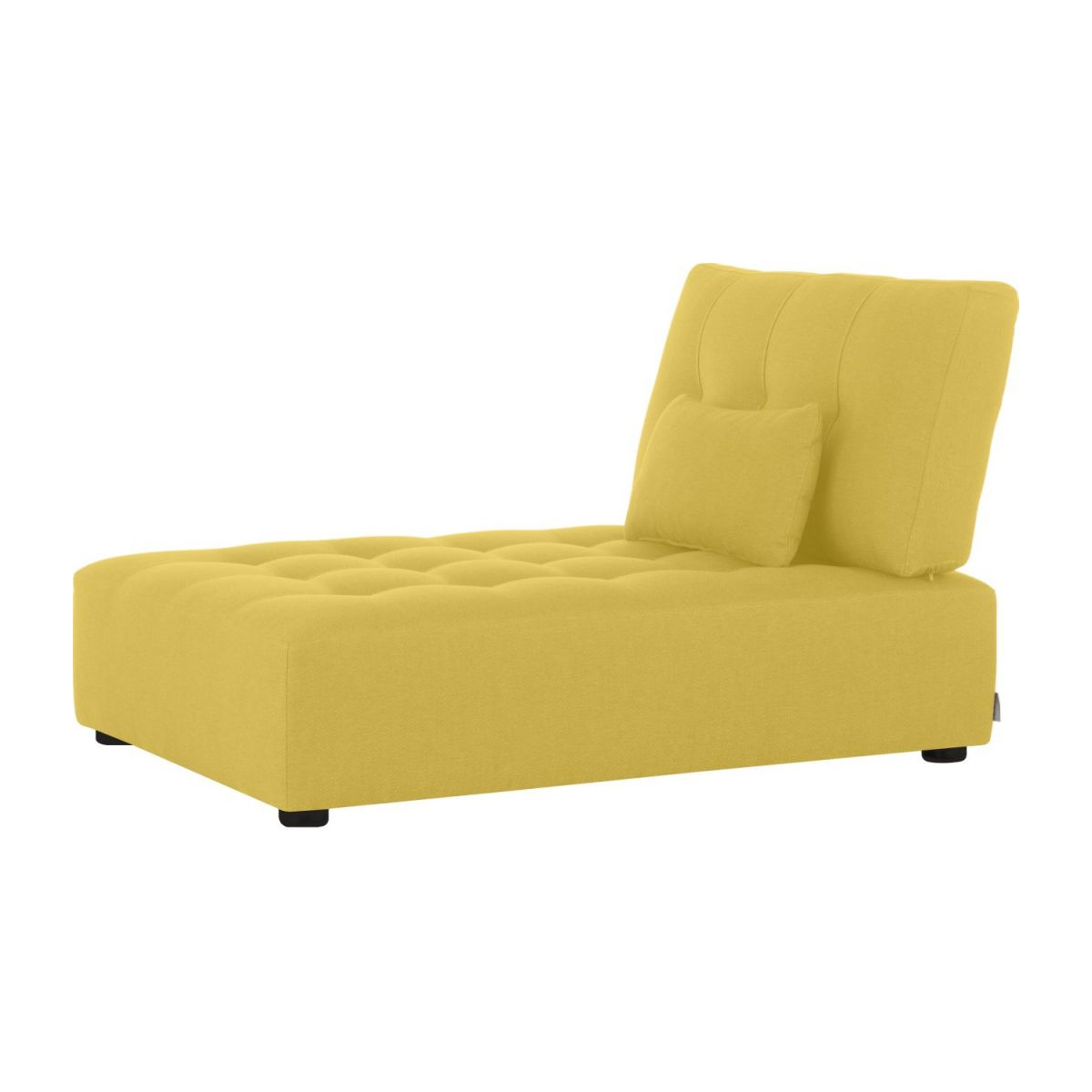 Chaiselongue aus Stoff - Senfgelb n°1