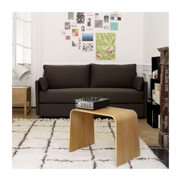 Carl canap lit 3 places en tissu gris anthracite habitat - Canape lit 3 places ...