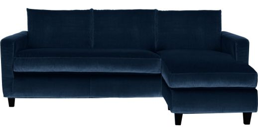 chester reversible velvet corner sofa habitat. Black Bedroom Furniture Sets. Home Design Ideas