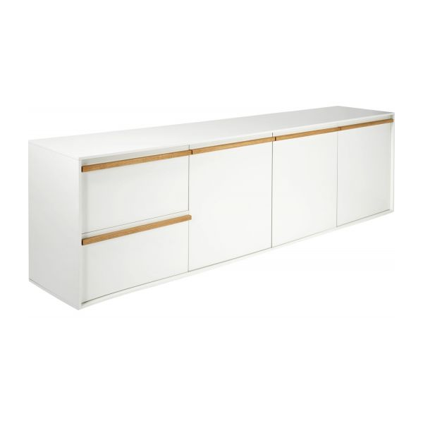 Gimm buffet bas blanc habitat for Buffet bas tv