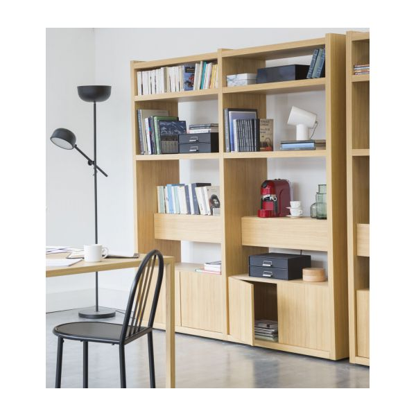 genna grande biblioth que en ch ne habitat. Black Bedroom Furniture Sets. Home Design Ideas