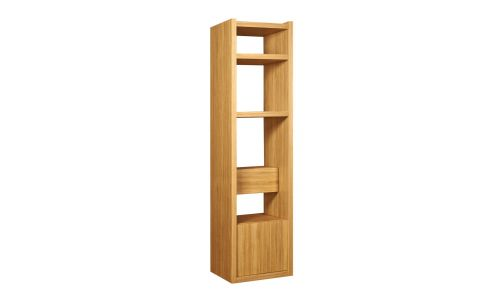 Small oak shelving unit