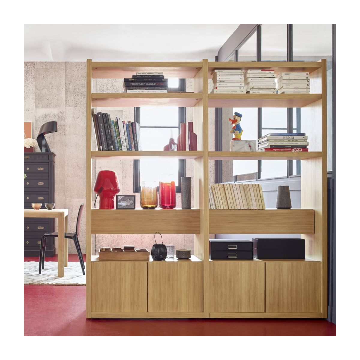 Extension for small oak shelving unit n°5
