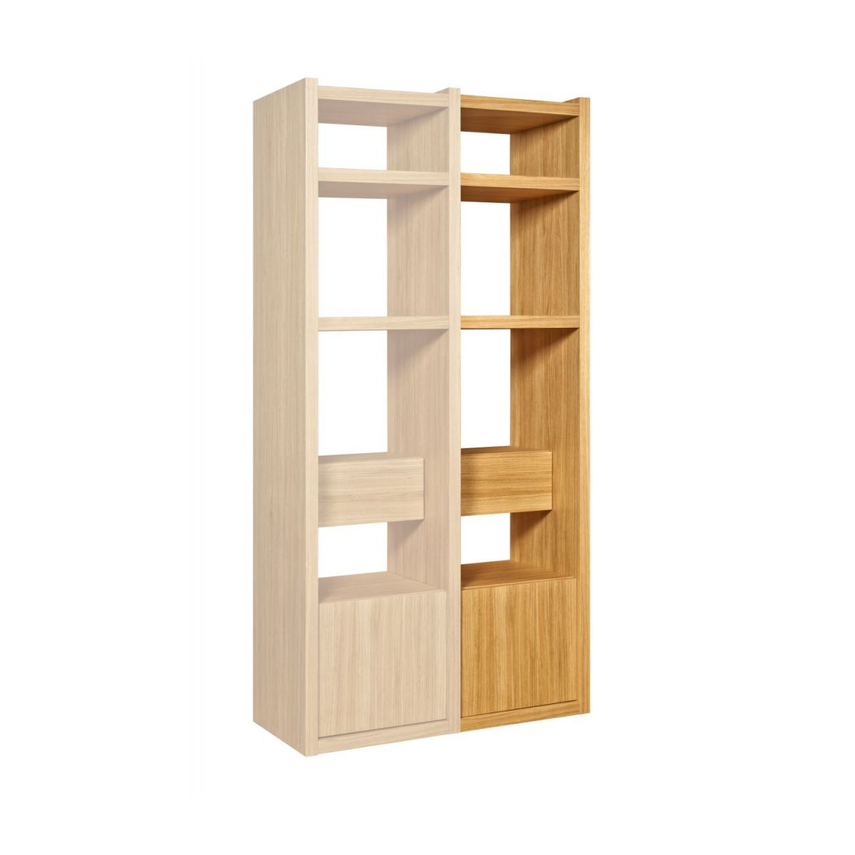 Extension for small oak shelving unit n°1