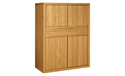 4-door oak storage unit
