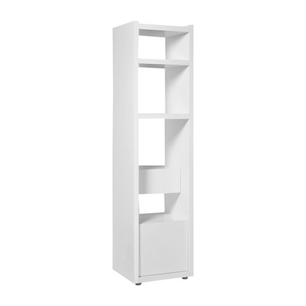 genna petite biblioth que en blanc laqu habitat. Black Bedroom Furniture Sets. Home Design Ideas
