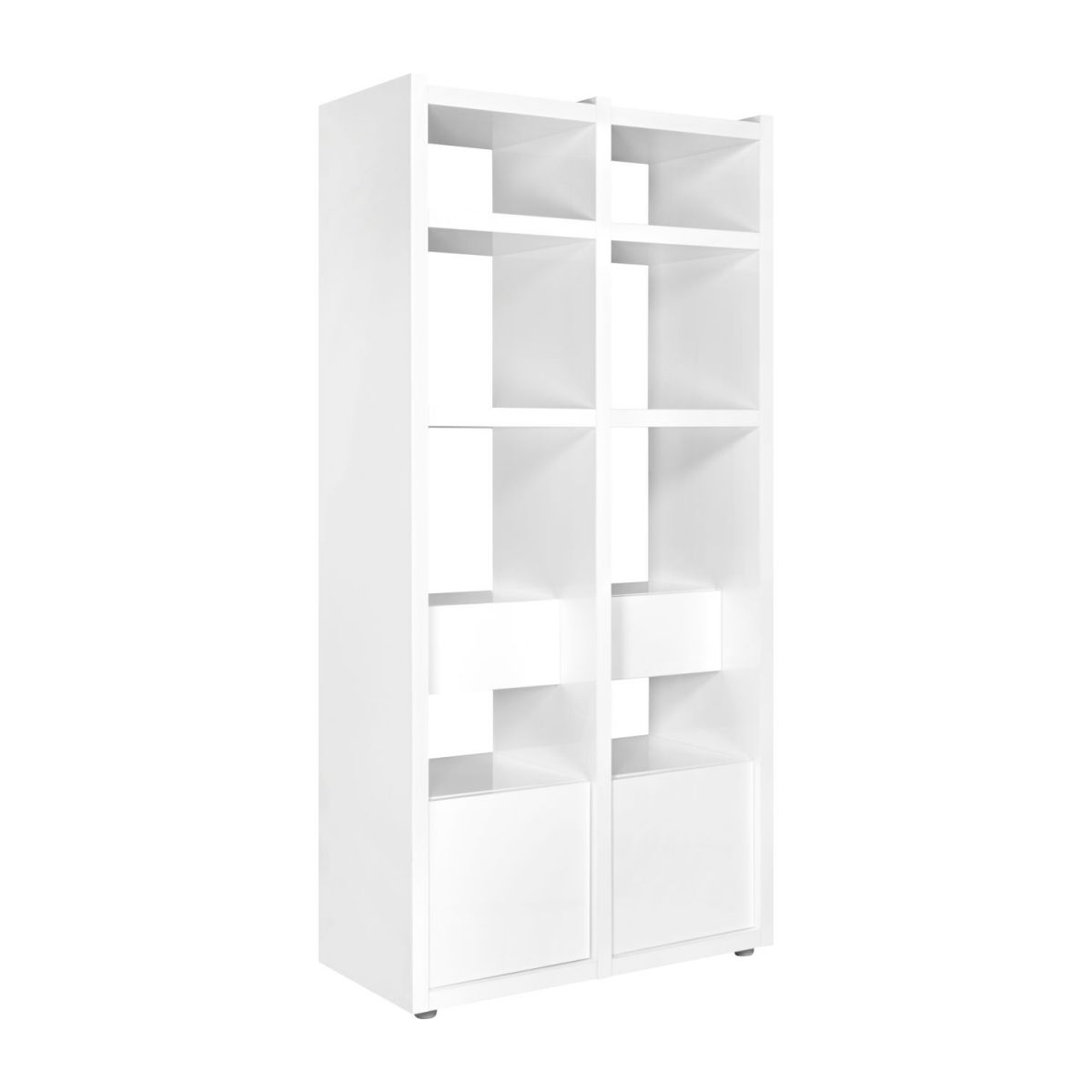 genna extension petit mod le pour biblioth que en blanc laqu habitat. Black Bedroom Furniture Sets. Home Design Ideas
