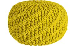 Yellow pouffe