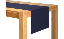 Chemin de table 45x140 bleu marine