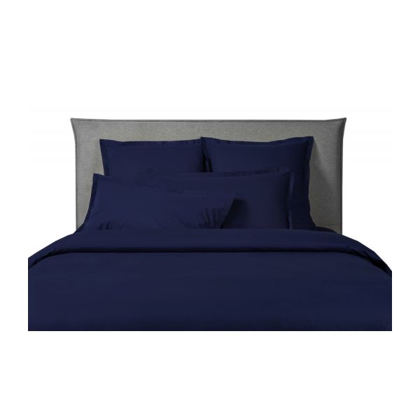 percale ii housse de couette 140x200 bleu marine habitat. Black Bedroom Furniture Sets. Home Design Ideas