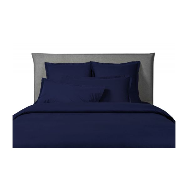 percale ii housse de couette 240x220 bleu marine habitat. Black Bedroom Furniture Sets. Home Design Ideas