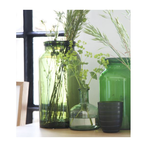 girasol vase vert en verre grand mod le habitat. Black Bedroom Furniture Sets. Home Design Ideas