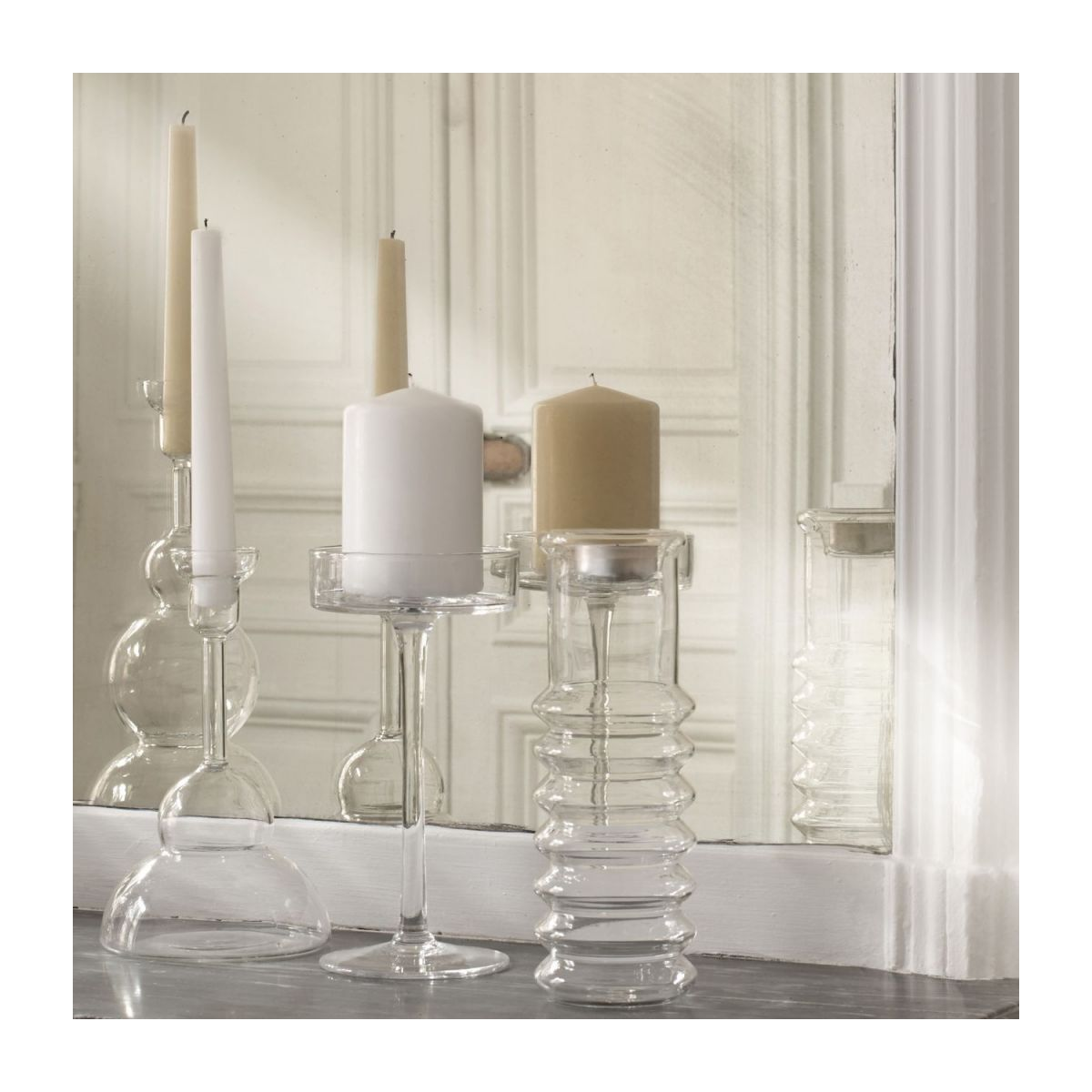Large glass candlestick n°3