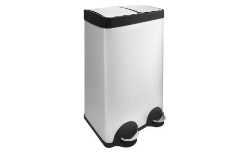 Double compartment bin