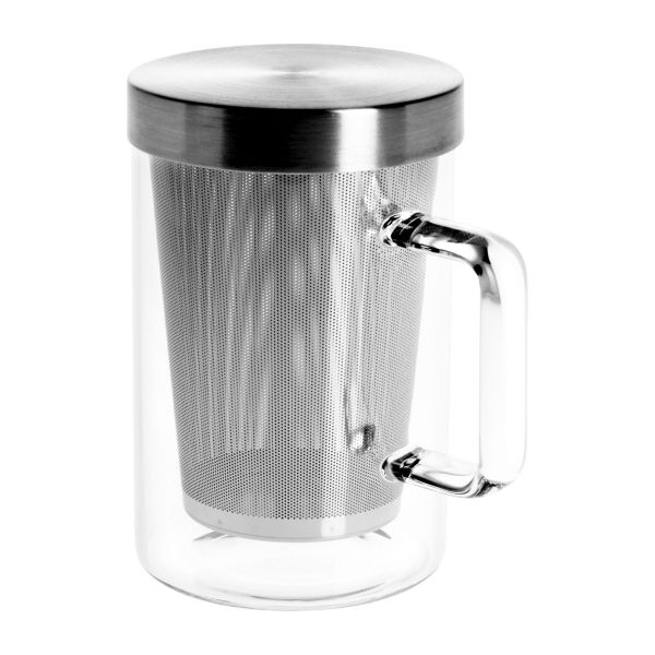 getz mug en verre 12cm avec filtre int gr en inox habitat. Black Bedroom Furniture Sets. Home Design Ideas