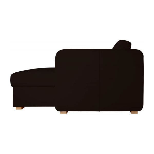 porto 3 canap lit 3 places en cuir avec angle. Black Bedroom Furniture Sets. Home Design Ideas