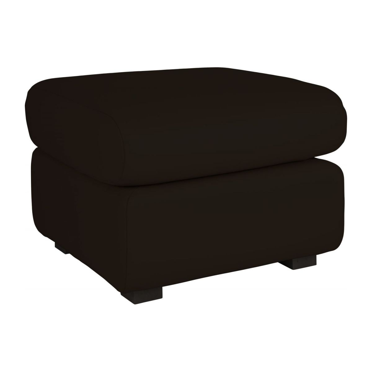 Leather footstool n°1